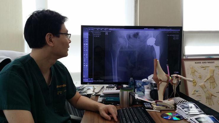 снимок тазобедренного сустава