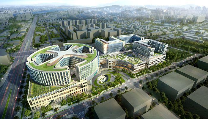 Расположение медицинского центра и университета
