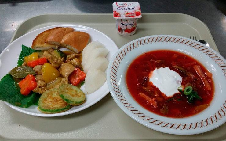 Обед для иностранцев
