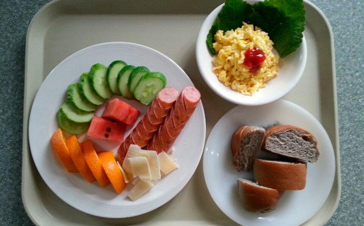 Завтрак для иностранцев